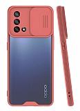 Lens Thin Oppo A74 Kamera Korumalı Pembe Silikon Kılıf