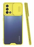Lens Thin Oppo A74 Kamera Korumalı Sarı Silikon Kılıf