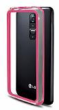 LG G2 Bumper Çerçeve Açık Pembe Kılıf