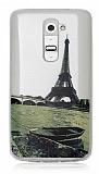 LG G2 Eiffel Ultra İnce Silikon Kılıf
