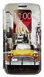LG G2 Gizli M�knat�sl� Pencereli Sar� Taksi Deri K�l�f