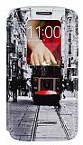 LG G2 Gizli M�knat�sl� Pencereli Taksim Deri K�l�f