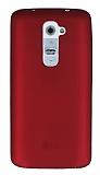 LG G2 Mat Kırmızı Silikon Kılıf