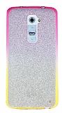 LG G2 Simli Pembe Silikon K�l�f