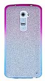 LG G2 Simli Mor Silikon K�l�f