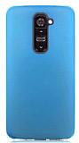 LG G2 Ultra �nce �effaf Mavi Rubber K�l�f