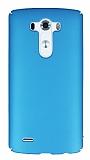 LG G3 Tam Kenar Koruma Mavi Rubber Kılıf