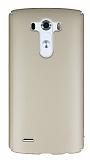 LG G3 Tam Kenar Koruma Gold Rubber K�l�f