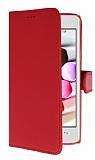 Casper Via V8C Cüzdanlı Yan Kapaklı Kırmızı Deri Kılıf
