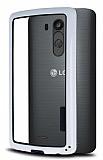 LG G3 S / G3 Beat Silikon Bumper Çerçeve Beyaz Kılıf