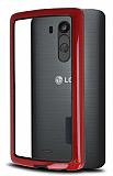 LG G3 S / G3 Beat Silikon Bumper Çerçeve Kırmızı Kılıf