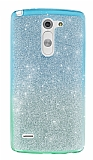 LG G3 Stylus Simli Mavi Silikon Kılıf