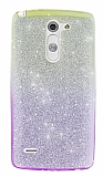 LG G3 Stylus Simli Sarı Silikon Kılıf