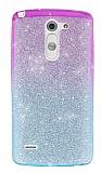LG G3 Stylus Simli Pembe Silikon Kılıf