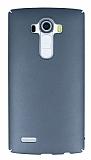 LG G4 Tam Kenar Koruma Dark Silver Rubber Kılıf