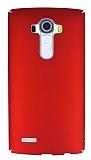 LG G4 Tam Kenar Koruma Kırmızı Rubber Kılıf