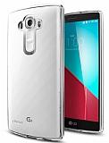 Eiroo LG G4 Şeffaf Silikon Kenarlı Kristal Kılıf