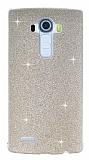 LG G4 Simli Gold Silikon Kılıf