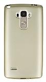 LG G4 Stylus Mat Gold Silikon Kılıf
