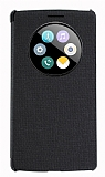 LG G4 Stylus Pencereli İnce Yan Kapaklı Siyah Kılıf