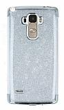 LG G4 Stylus Simli Silver Silikon Kılıf