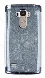 LG G4 Stylus Simli Siyah Silikon Kılıf