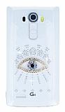 LG G4 Taşlı Göz Şeffaf Silikon Kılıf
