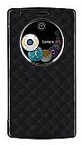 LG G4 Uyku Modlu Pencereli Flip Cover Siyah Kılıf