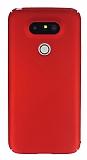 LG G5 Tam Kenar Koruma Kırmızı Rubber Kılıf