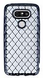 LG G5 Diamond Siyah Kenarlı Şeffaf Silikon Kılıf