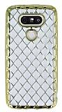 LG G5 Diamond Gold Kenarlı Şeffaf Silikon Kılıf