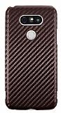 LG G5 Karbon Kahverengi Rubber Kılıf