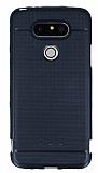 LG G5 Metalik Nokta Desenli Siyah Silikon Kılıf