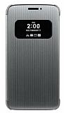 LG G5 Orjinal Pencereli Uyku Modlu Silver Kılıf