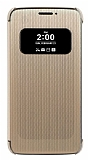 LG G5 Orjinal Pencereli Uyku Modlu Gold Kılıf