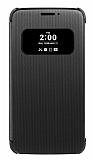 LG G5 Orjinal Pencereli Uyku Modlu Siyah Kılıf
