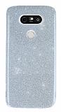 LG G5 Simli Silver Silikon Kılıf
