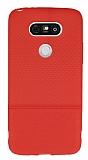 LG G5 Ultra İnce Noktalı Kırmızı Silikon Kılıf