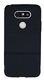 LG G5 Ultra İnce Noktalı Siyah Silikon Kılıf