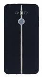 LG G6 Kadife Dokulu Siyah Silikon Kılıf