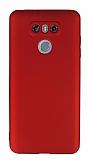 LG G6 Mat Kırmızı Silikon Kılıf