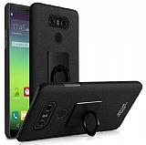 IMAK LG G6 Selfie Yüzüklü Siyah Rubber Kılıf