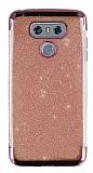 LG G6 Simli Pembe Silikon Kılıf