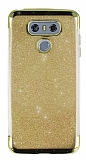 LG G6 Simli Gold Silikon Kılıf
