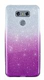 LG G6 Simli Mor Silikon Kılıf