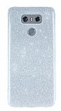 LG G6 Simli Silver Silikon Kılıf