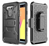 LG G6 Standlı Ultra Koruma Siyah Kılıf