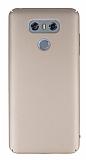 LG G6 Tam Kenar Koruma Gold Rubber Kılıf