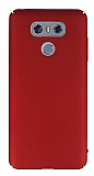 LG G6 Tam Kenar Koruma Kırmızı Rubber Kılıf
