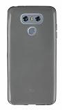 LG G6 Ultra İnce Şeffaf Siyah Silikon Kılıf